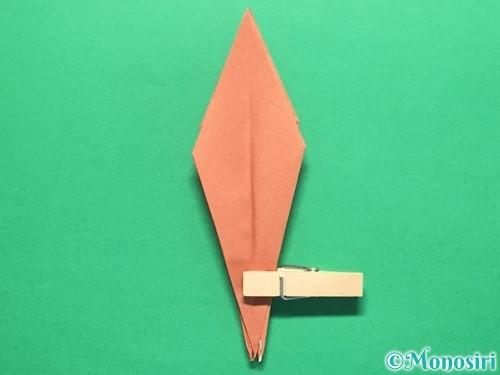 折り紙で立体的なかたつむりの折り方手順39