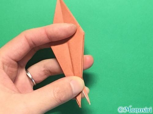 折り紙で立体的なかたつむりの折り方手順40