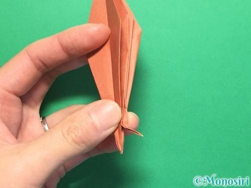 折り紙で立体的なかたつむりの折り方手順41