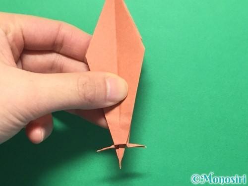 折り紙で立体的なかたつむりの折り方手順45