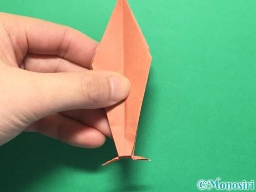 折り紙で立体的なかたつむりの折り方手順46