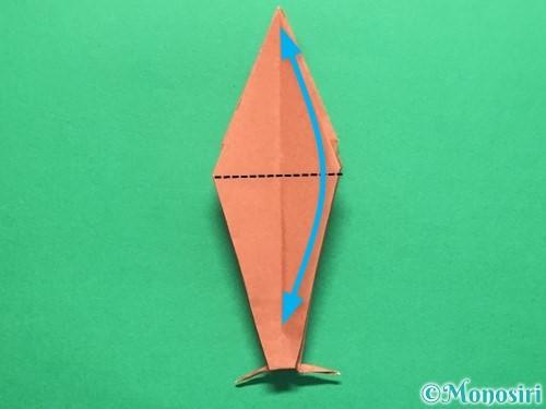 折り紙で立体的なかたつむりの折り方手順47