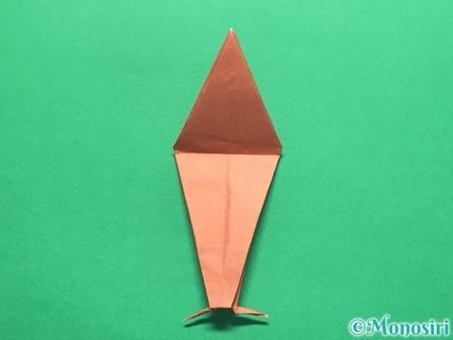 折り紙で立体的なかたつむりの折り方手順48