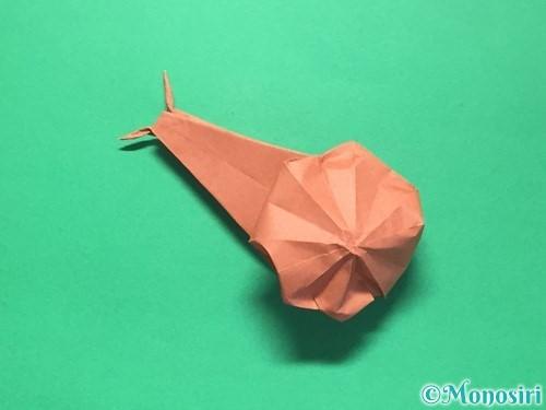 折り紙で立体的なかたつむりの折り方手順53