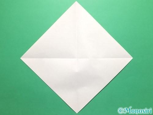 折り紙で傘の折り方手順2