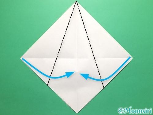 折り紙で傘の折り方手順3