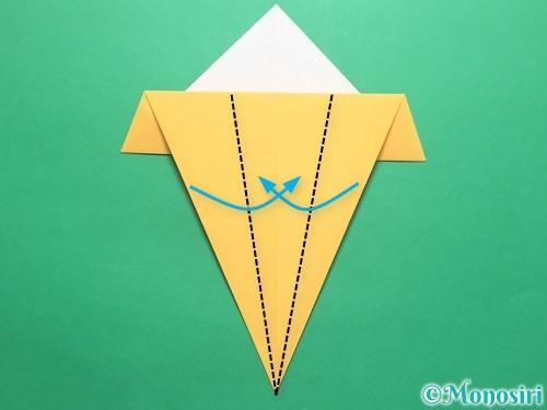 折り紙で傘の折り方手順10