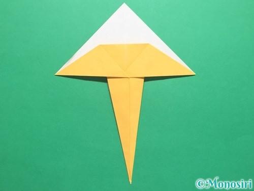 折り紙で傘の折り方手順14