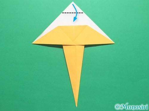 折り紙で傘の折り方手順15