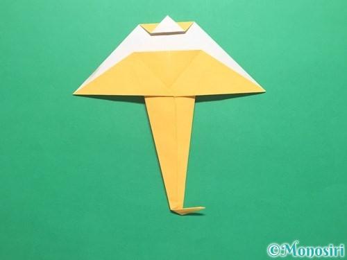 折り紙で傘の折り方手順19