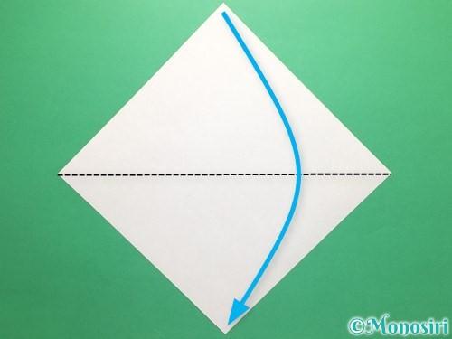 折り紙でお正月リースの作り方手順1