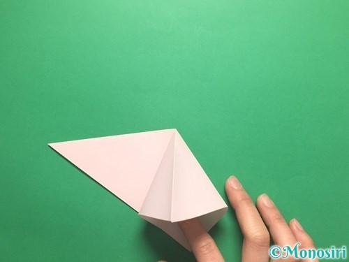 折り紙でお正月リースの作り方手順6