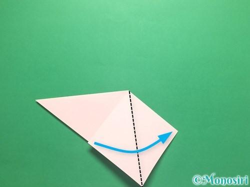 折り紙でお正月リースの作り方手順9