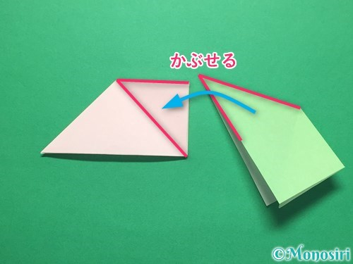 折り紙でお正月リースの作り方手順13
