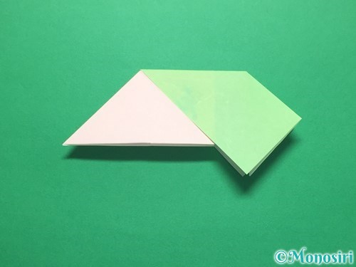 折り紙でお正月リースの作り方手順14