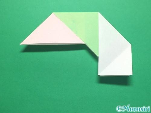 折り紙でお正月リースの作り方手順15