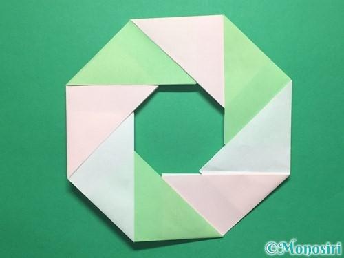 折り紙でお正月リースの作り方手順16