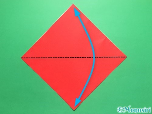 折り紙で簡単なイチゴの折り方手順1