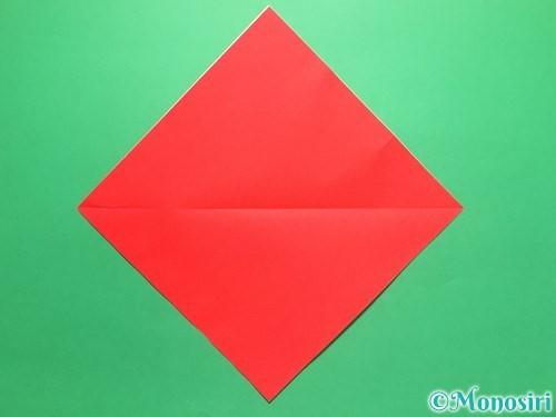折り紙で簡単なイチゴの折り方手順2