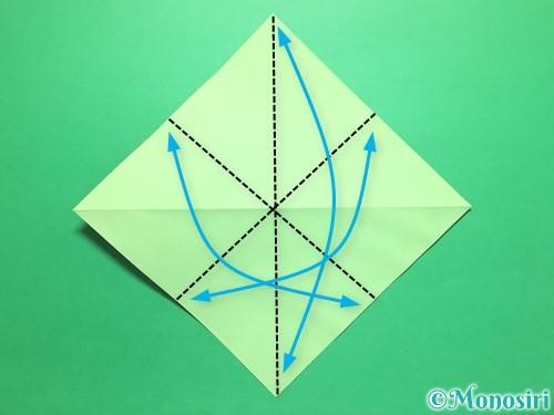 折り紙で簡単なイチゴの折り方手順4