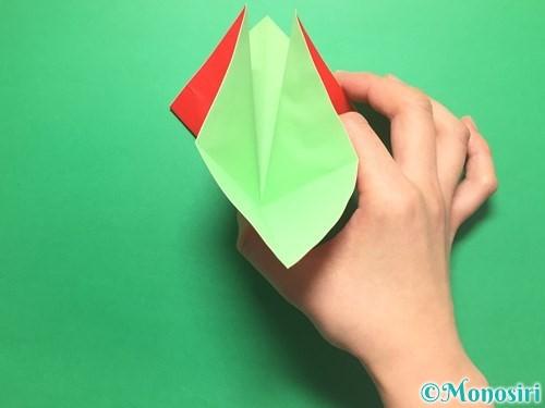 折り紙で簡単なイチゴの折り方手順7