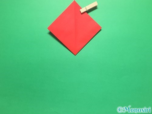 折り紙で簡単なイチゴの折り方手順8