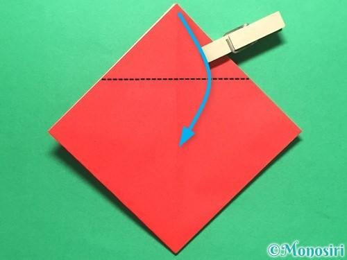 折り紙で簡単なイチゴの折り方手順9