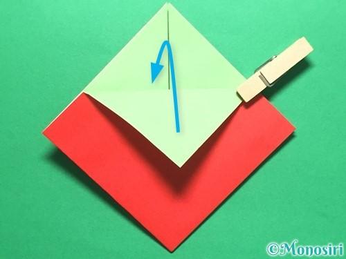 折り紙で簡単なイチゴの折り方手順11