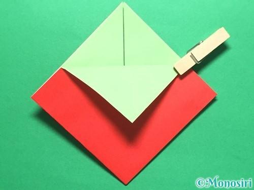 折り紙で簡単なイチゴの折り方手順10