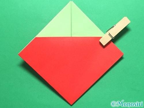 折り紙で簡単なイチゴの折り方手順12