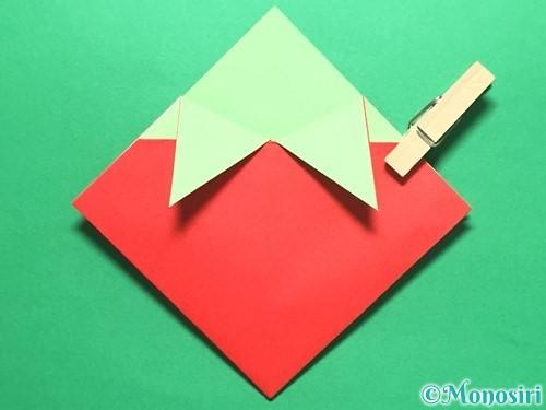 折り紙で簡単なイチゴの折り方手順14