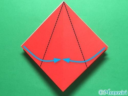 折り紙で簡単なイチゴの折り方手順16