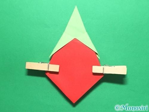 折り紙で簡単なイチゴの折り方手順18