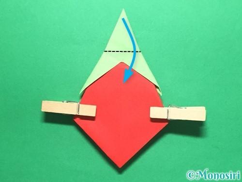 折り紙で簡単なイチゴの折り方手順19