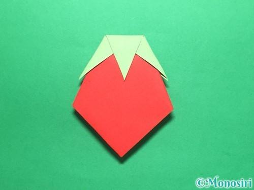 折り紙で簡単なイチゴの折り方手順20