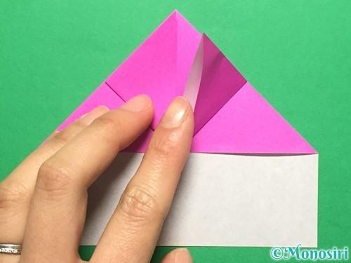 折り紙でいちごの手紙の折り方手順17
