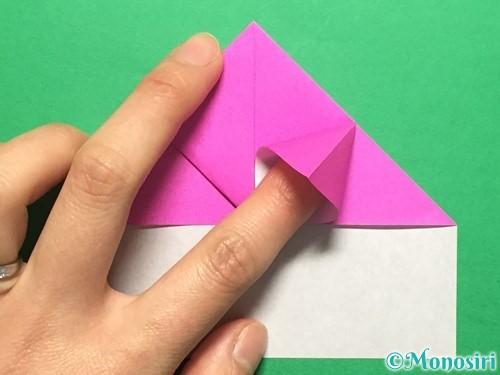 折り紙でいちごの手紙の折り方手順18