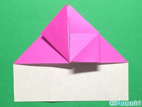 折り紙でいちごの手紙の折り方手順19