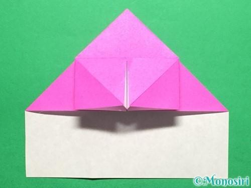 折り紙でいちごの手紙の折り方手順20