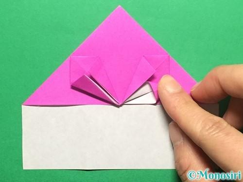 折り紙でいちごの手紙の折り方手順24