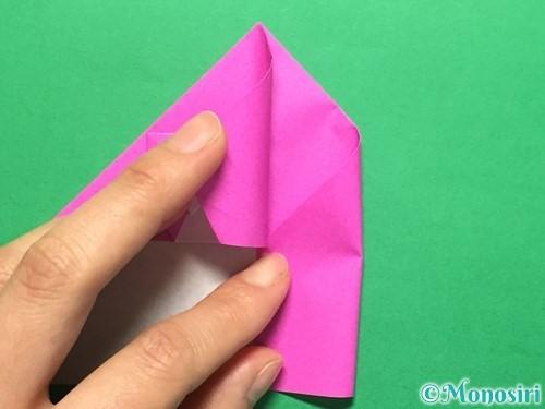 折り紙でいちごの手紙の折り方手順32