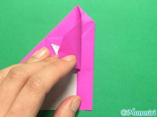 折り紙でいちごの手紙の折り方手順34