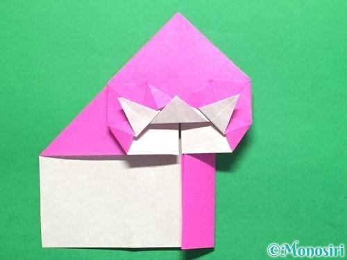 折り紙でいちごの手紙の折り方手順35