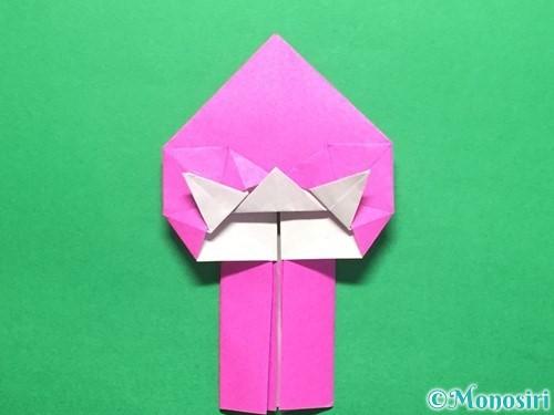 折り紙でいちごの手紙の折り方手順36