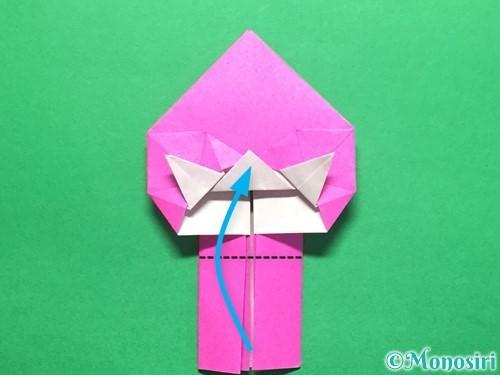 折り紙でいちごの手紙の折り方手順37