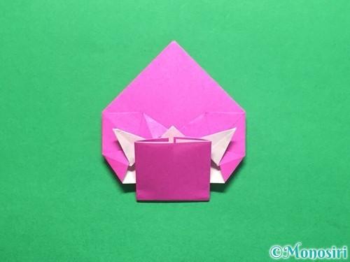 折り紙でいちごの手紙の折り方手順38