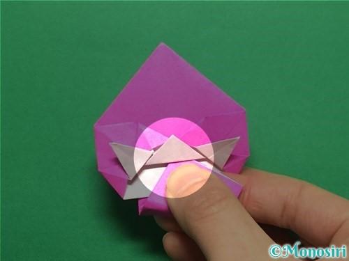 折り紙でいちごの手紙の折り方手順39