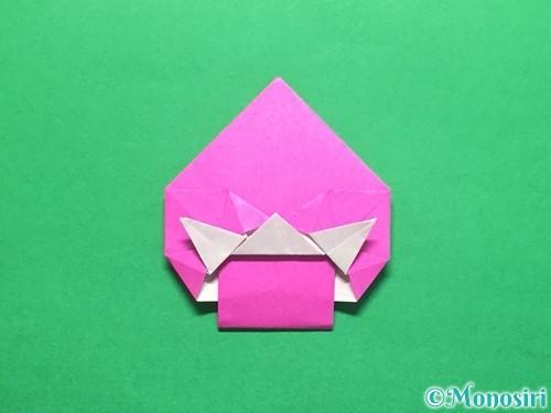 折り紙でいちごの手紙の折り方手順40