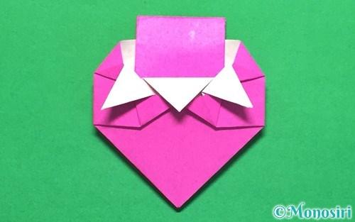 折り紙で折ったイチゴの手紙