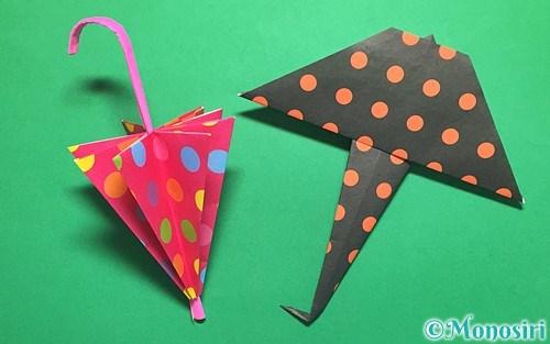 折り紙で作った傘